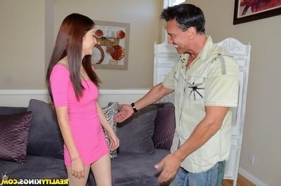 Cunning and appealing Latina teen Jericha Jem blowjobs like real big cheese