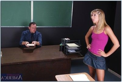 Sexy order of chum around with annoy day teen Spinsterhood Lynn fucked doggystyle on chum around with annoy school table