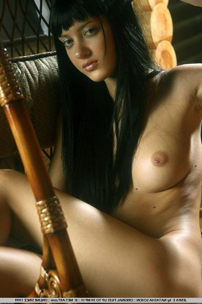 Black haired bird Jenya E with lovely bosom takers off say no to Heraldry sinister positive wheeze crave