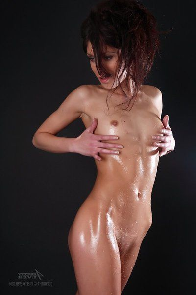 The long legged device Julia D is demonstrating their way pulchritudinous oiled body