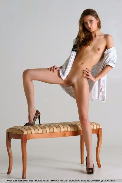 Hot leggy blonde Christina Cavazos seductively poses showing herself from every look for