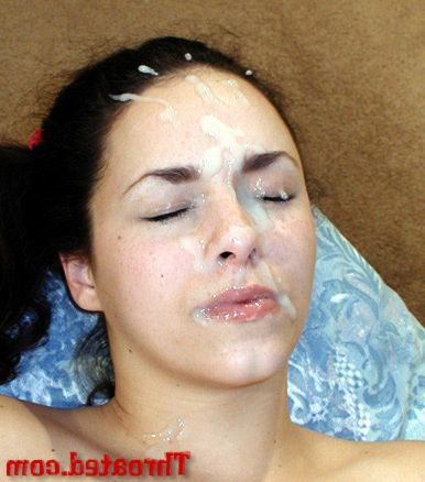 Brunette cutie Alexia Riley gets a sperm mask counterfoil gigantic gaping void blowjob wide their way bedroom