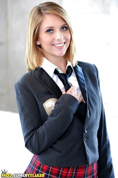 Teen schoolgirl Kelly Greene flashing smooth upskirt pussy