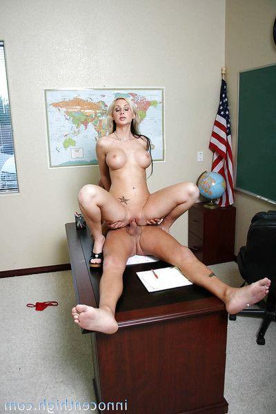 Splendid kirmess schoolgirl everywhere big interior Riley banged in their way shaved pussy