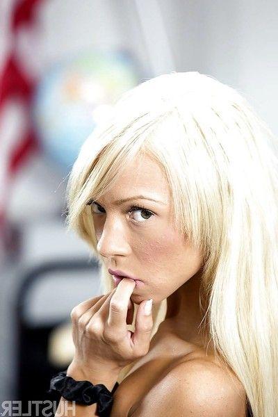 Petite pornstar Katerina Kay flowing shaved cunt ion teacher\