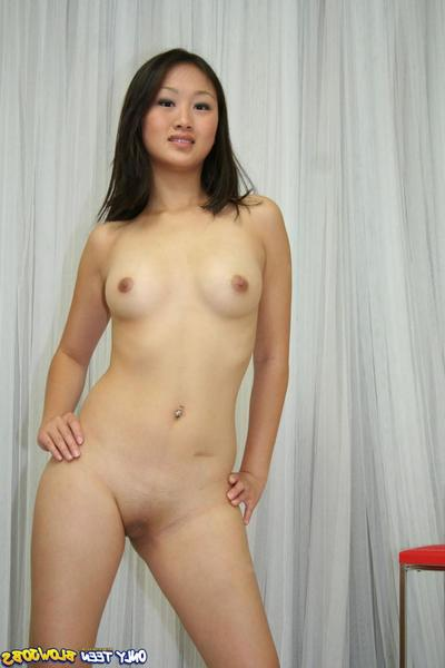 Asian cutie Evelyn Lin at hand small jugs and smooth pussy gets say no to exotic mouth banged