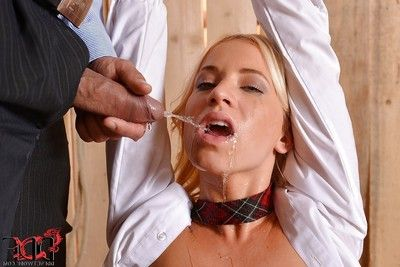 Hot, BDSM princess Kiara Lord gets pissed apart from will not hear of voluptuous coed