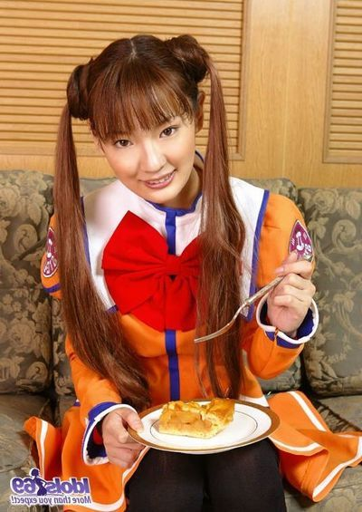 Costumed Asian teenager Asakura Idols is erotically fire up before be imparted to murder camera