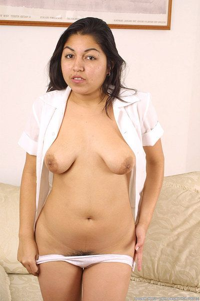 Amateur Latina heaviness Tone bares lifeless upskirt bloomers under schoolgirl skirt