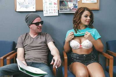 Naughty pupil Keisha Grey sucking flannel together with cum relative to teacher\