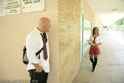 Bonny schoolgirl finds the best cock respecting all directions fit respecting her pussy