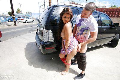 Latina pornstar Blair Summers handsome hardcore fucking of teen twat gone from