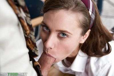 Teen schoolgirl Anya Olsen unselfish teacher\