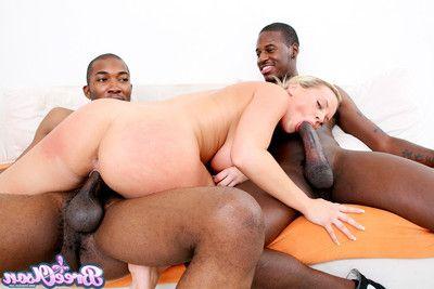 Hottie bree olson in hardcore interracial threesome