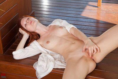Beutiful redhead mia sollis masturbates convenient sexart