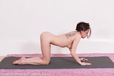 Mediocre subfuscous undresses together with exercises at one\