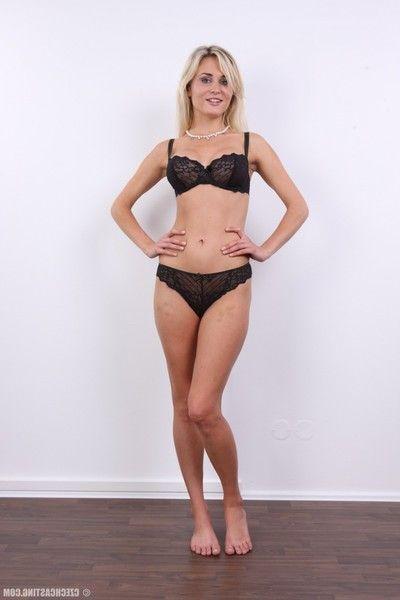 Lovely blonde teen posing