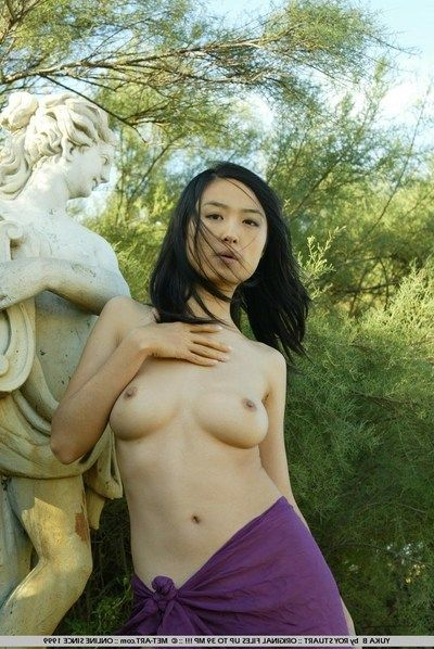 The Asian apparatus Yuka A is demonstrating boobs and puristic pussy right outdoor