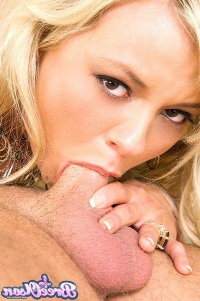 Bree olson sucks fucks and gets cum on the brush tits