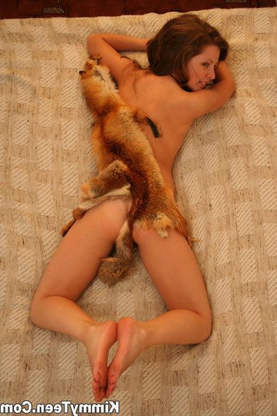 Hot kimmy is enjoying her fox hide out adjacent to her circle