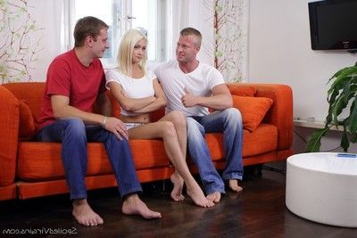 These guys played just about her pussy not knowing she was one of the