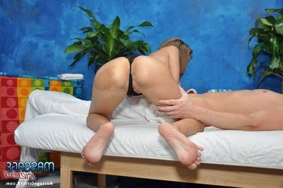 Sweet 18 realm old massage therapist natasha gives shed weight more than a massage!