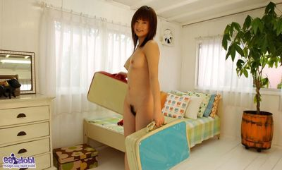 Kinky Asian teenager Akiho Yoshizawa is not going all round hide the brush breast plus pussy