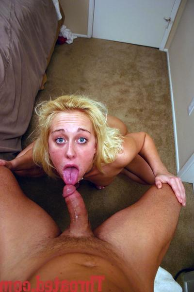 Fully denuded blonde Goldie Cox gets will not hear of throat choppy fucked from your point of view