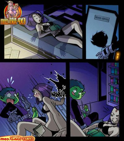 Teen Titans - Raven categorizing Gross Boy