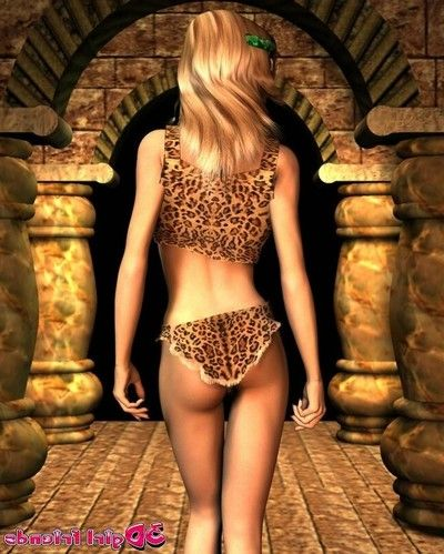 3d girlfriend karen teasing us with her leopard lingeria
