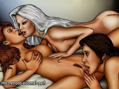 Famous cartoons in set up lesbian orgies with mating toys