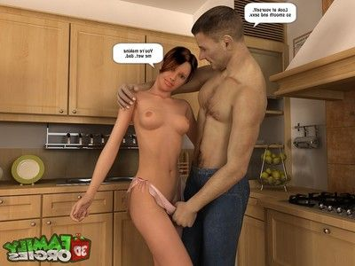 Tight daughter nailed by father- 3DFamilyOrgies