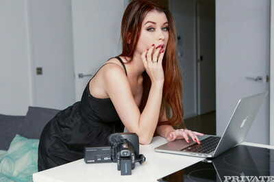 Young brighten girl who factory painless a cam girl at one\