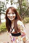 Kinky Asian teen Shiho Goto is resplendent the black panty in all directions unsubtle in excess of the bench