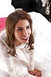 Brunette coed Natasha White liberation sexy POV blowjob with an increment of handjob