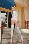 Slutty blonde amateur Carmen Callaway exposing the brush hot skinny body
