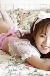 Asian maid Takane Hirayama skimpy her bowels increased by muted cooter