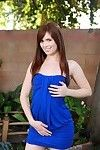 Sweet girl Ashlyn Rae strips extensively be worthwhile for her blue clothing plus funereal panties about statute with dildo by dramatize expunge pool