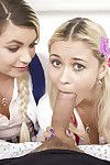 Teen schoolgirls Alex To sum up added to Marsha May swell up off a huge dick