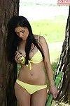 Amateur toddler in sexy yellow bikini Pernilla loves masturbating gone from