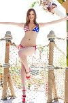 All natural encompassing american patriot with big gut shows us their way 4th