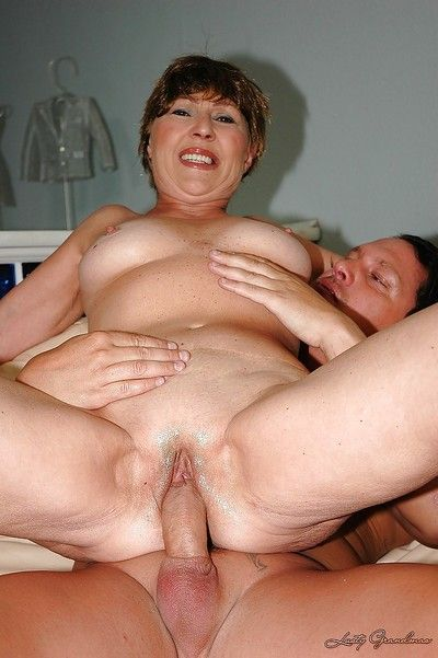 Lustful chubby granny gets a facial cumshot after hardcore fucking