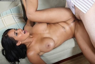 Big boobed raven haired milf Isis Love gets fucked and takes cumshot on her ass