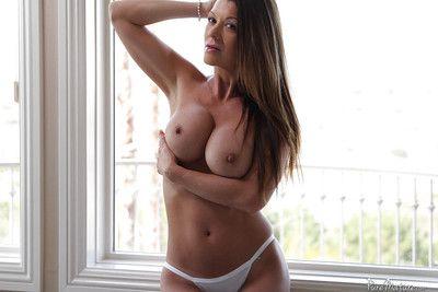Big tits mature Raquel Devine shows her masturbation on camera