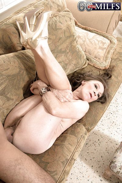Over 60 cougar with hairy vagina and saggy tits taking hardcore banging