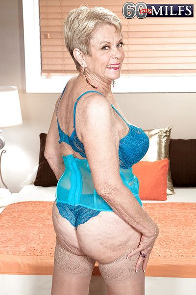 Lascivious granny with big tits Lin Boyde gets fucked by a younger guy