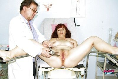 Spread pussy finger violation with old granny at the gyno\