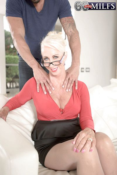 Busty granny Madison Milstar taking hardcore anal sex before facial cumshot