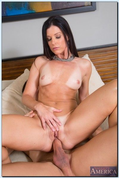 Mature anal slut with long legs India Summer blows and fucks a young cock