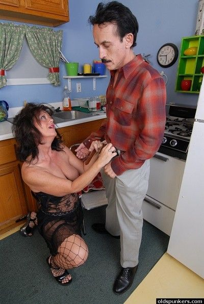 Cock hungry granny Debella relishes a man\